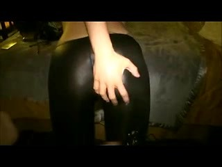 Amateur slut wife in latex pantyhose fucked...