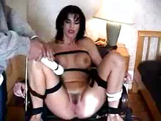 Italian amateur wife roped and teased on her...