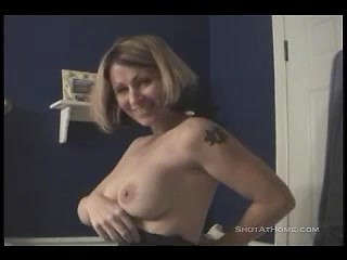 Lusty wife Cleo sucking huge cock of her...