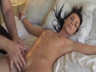 Softcore amateur BDSM with oiled nice...